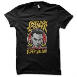 tee shirt sheldon cooper super villain noir