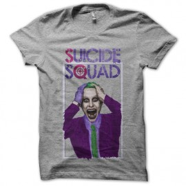 gray t-shirt Suicide Squad