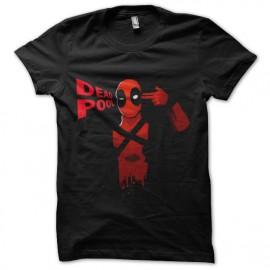 camiseta del negro de la camisa Deadpool