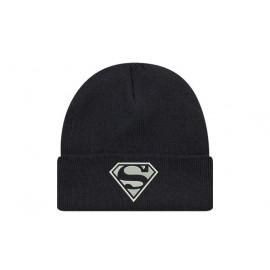 Bonnet superman classique logo de couleur noir