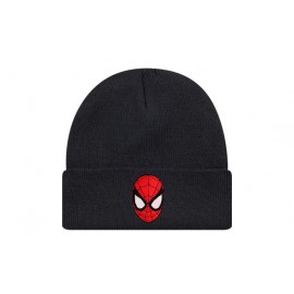 Bonnet spiderman face de couleur noir
