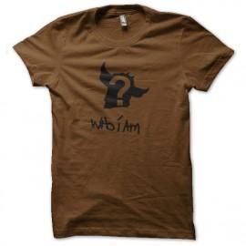 tee shirt goldorak who i am marron