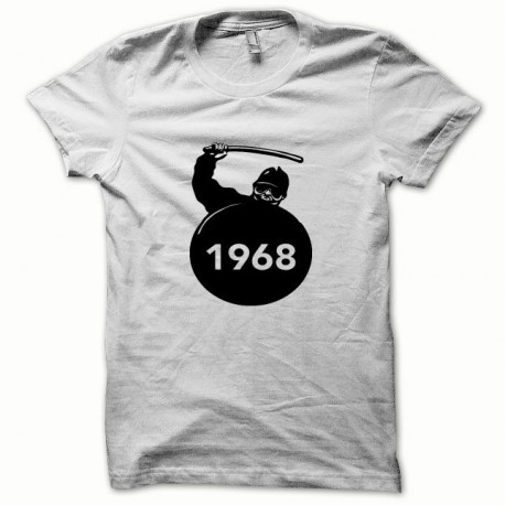Tee shirt CRS Mai 68 noir/blanc