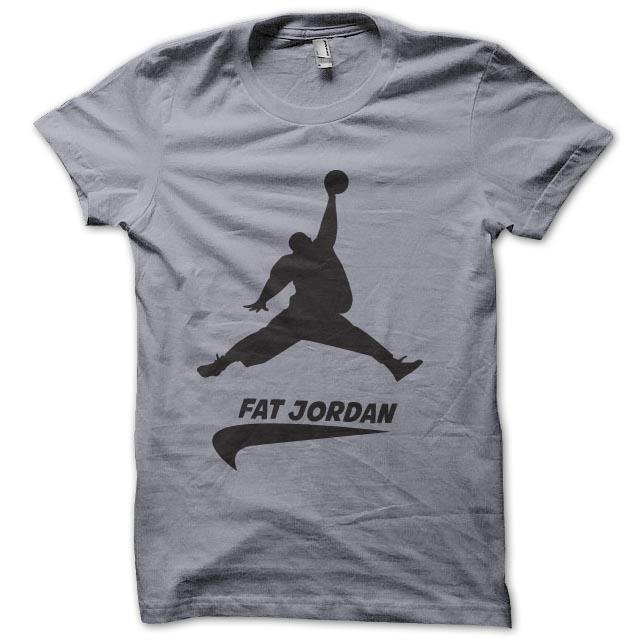 fat gray shirt jordan