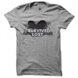tee shirt i survived lost gray