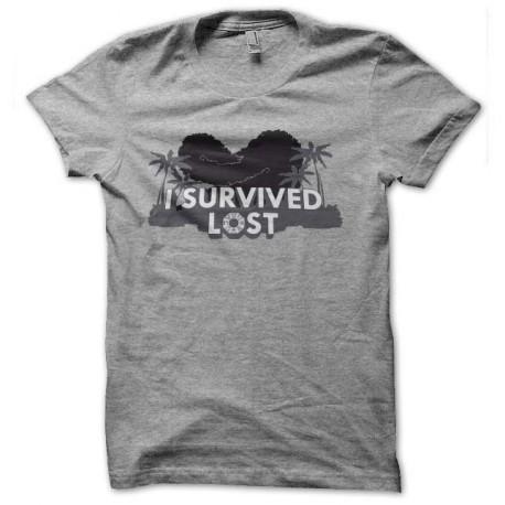 camiseta sobreviví gris perdida