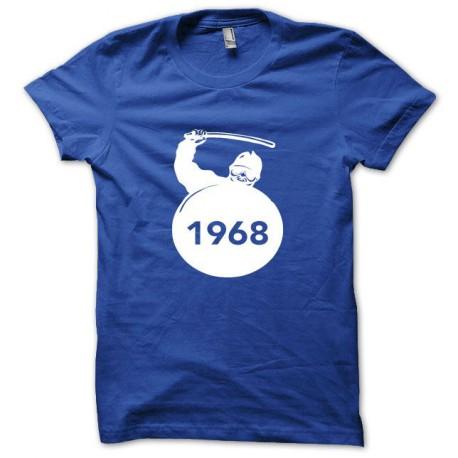 Tee shirt CRS Mai 68 blanc/bleu royal