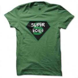 te shirt super écolo vert
