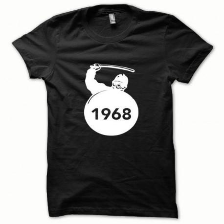Tee shirt CRS Mai 68 blanc/noir