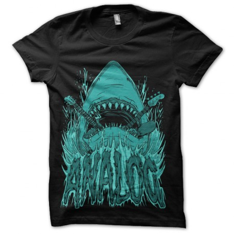 tee shirt shark analog
