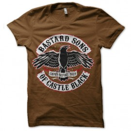 tee shirt castle black marron
