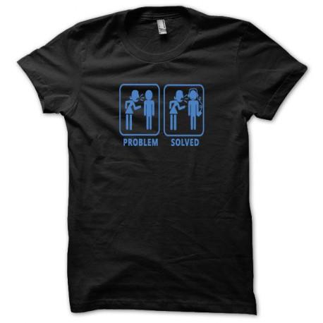 Tee shirt Problem Solved bleu/noir
