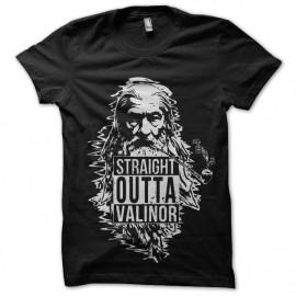 straight outta valinor gandalf t-shirt