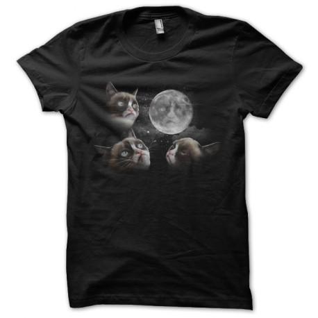 tee shirt cat of the moon