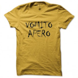 tee shirt apero vomir jaune