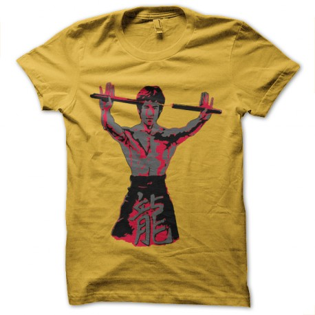 t-shirt bruce lee-nunchaku
