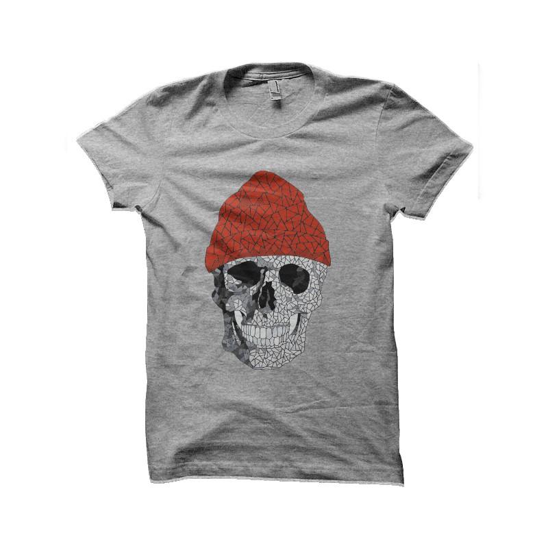 tee shirt commandant cousteau squelette
