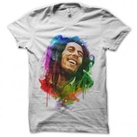 tee shirt bob marley aquarelle