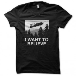 tee shirt i want to believe delorean