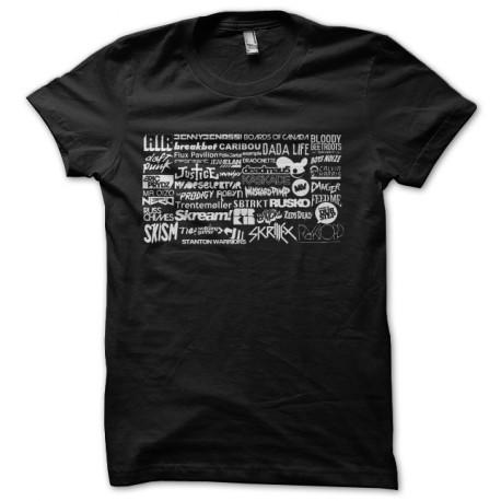 tee shirt affiche dj techno