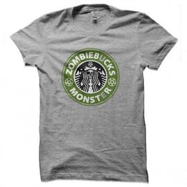 tee shirt zombie monster starbucks