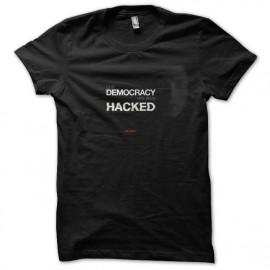 tee shirt mr robot democracy been hacked