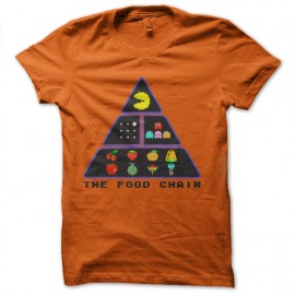 t-shirt chain food geek pacman