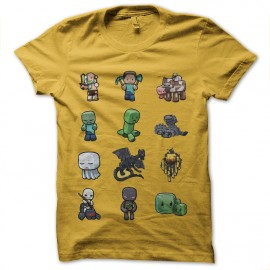 tee shirt minecraft personnages