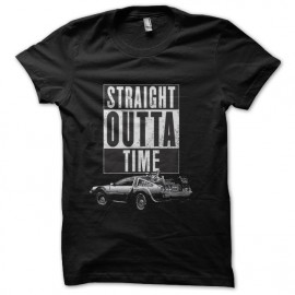 tee shirt straight outta time delorean
