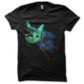 tee shirt chat de l espace rayons laser