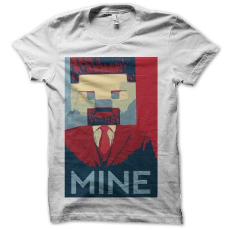 tee shirt minecraft mine obama