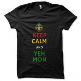tee shirt yeah mon rasta keep calm