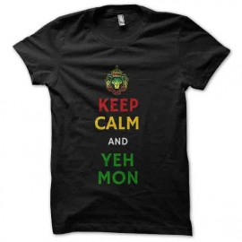 tee shirt yeah mon rasta keep calm
