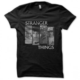 tee shirt stranger things personnages