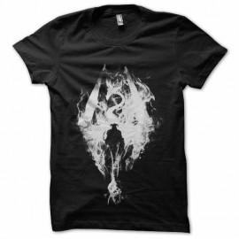 tee shirt skyrim logo flamme