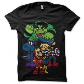 mario bros avengers t-shirt