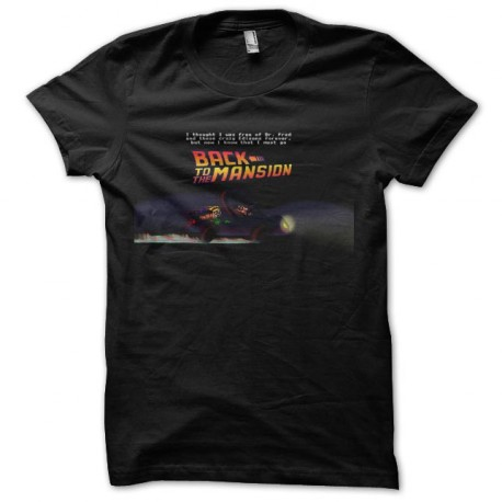 maniac mansion back to the future t-shirt