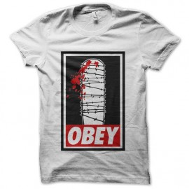 tee shirt obey lucille walking dead