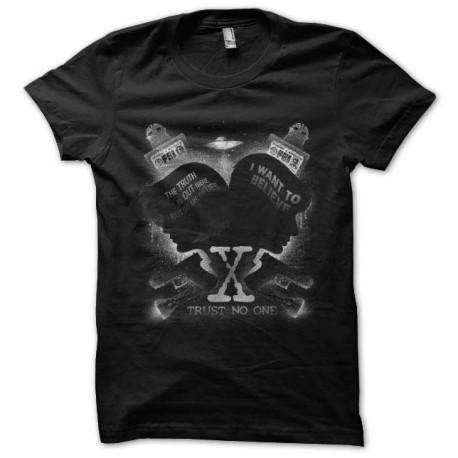 tee shirt x-files trust no one