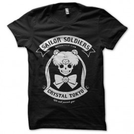 tee shirt sailor moon soldiers motorcycle club