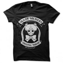 tee shirt sailor moon soldiers motorcycle club