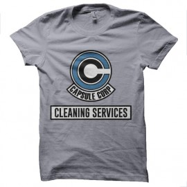 tee shirt capsule corp cleaning service dragon ball
