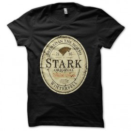 stark game of thrones beer t-shirt