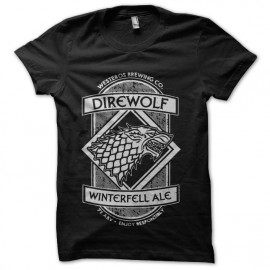 direwolf winterfell beer t-shirt