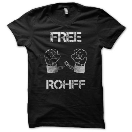 Tee shirt Libérez Rohff Free Rohff noir