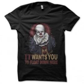 tee shirt il est revenu clown horreur
