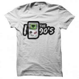 tee shirt love 90 gameboy