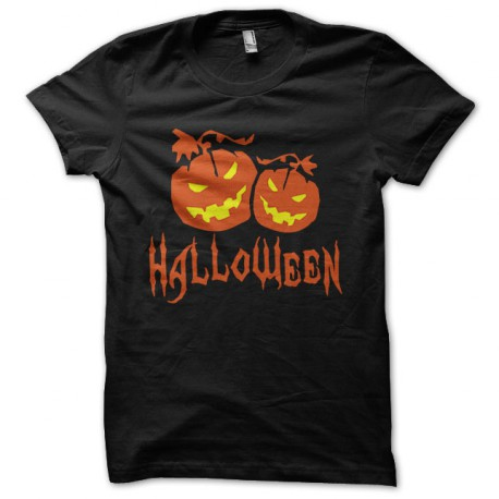 Tee Shirt Halloween Orange on Black