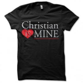 tee shirt christian is mine nuances de gray