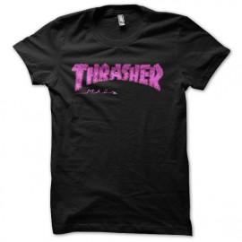 tee shir trasher skatebord